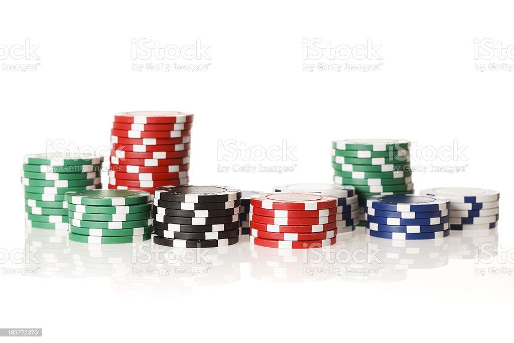 Poker gambling chips royalty-free stock photo