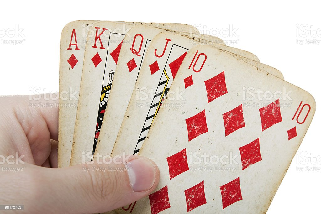 Poker gambling royal flush royalty-free stock photo