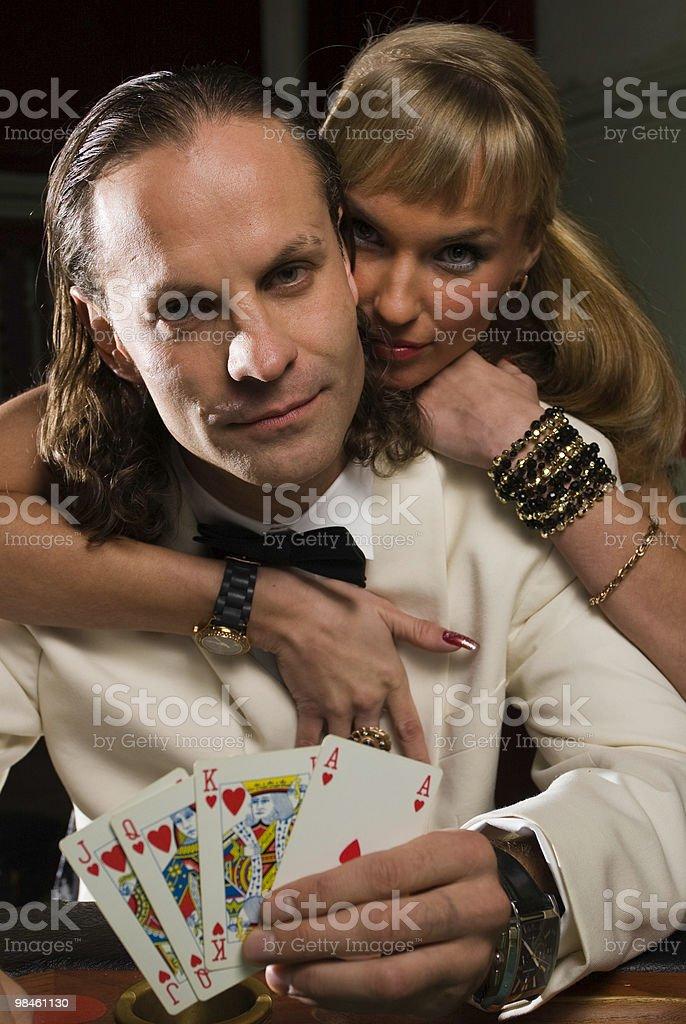 Poker game - couple royalty-free stock photo