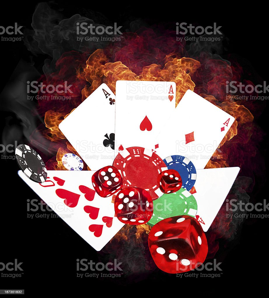 Poker game stock photo