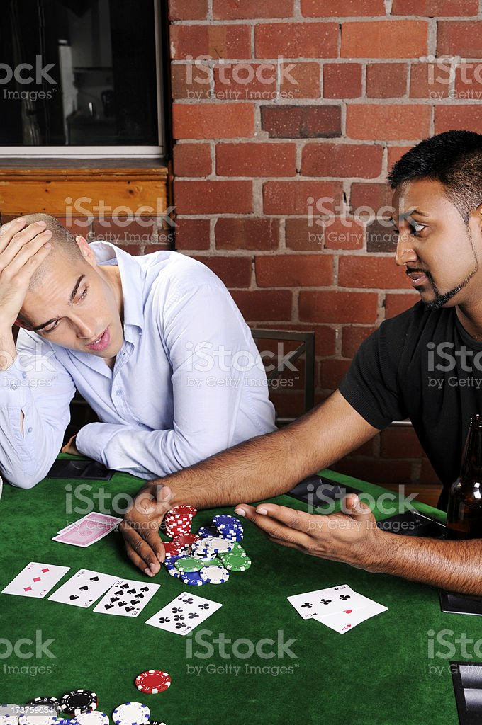 Poker Game Series: Winner and Loser royalty-free stock photo