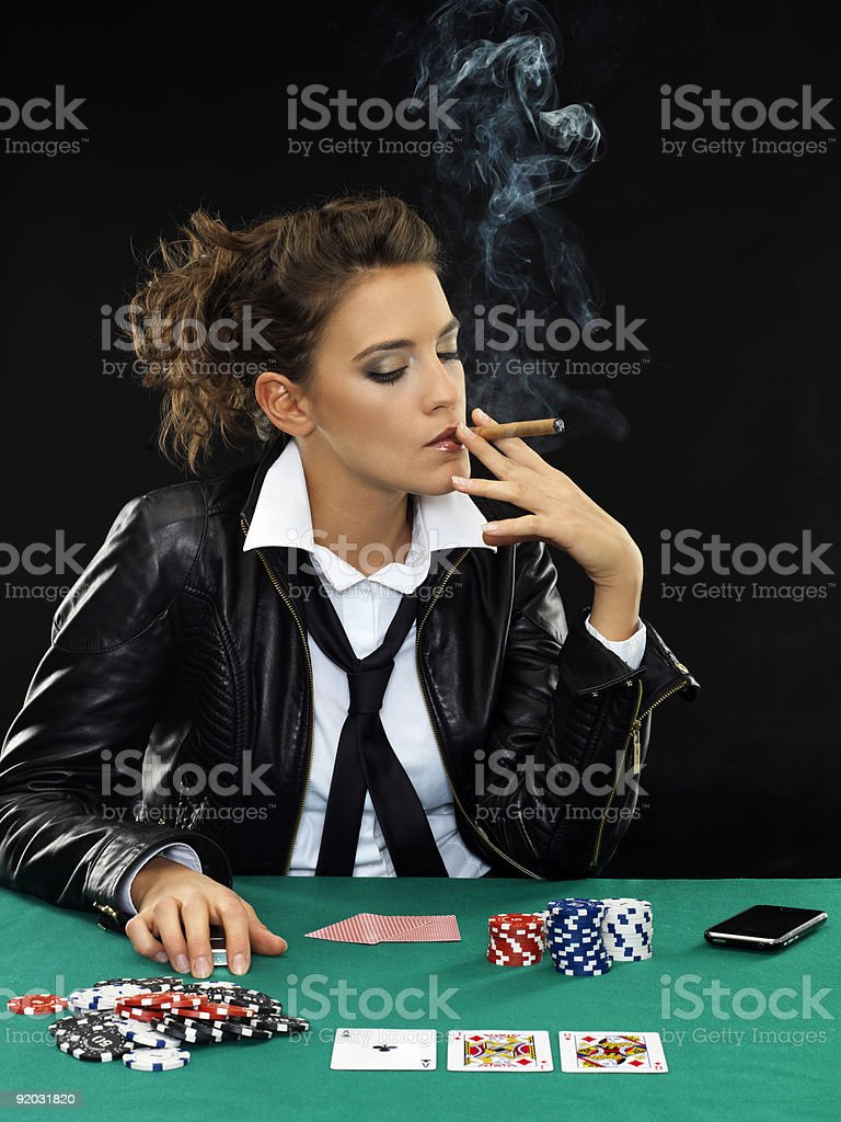 poker girl 2 royalty-free stock photo