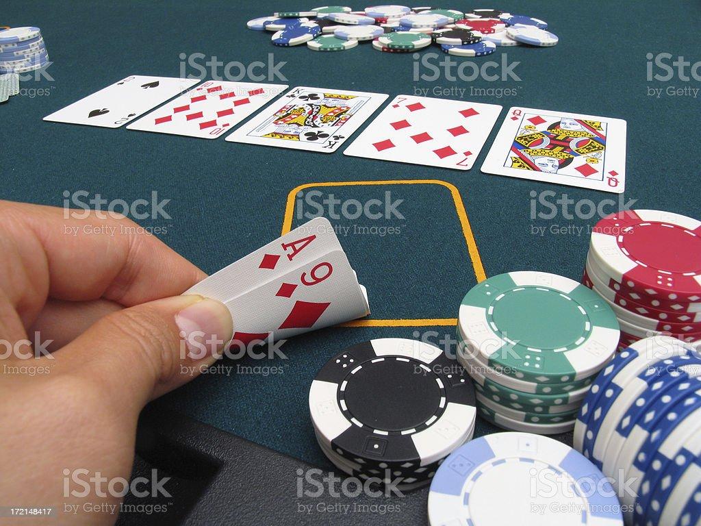 Poker Hand #5 - Flush royalty-free stock photo