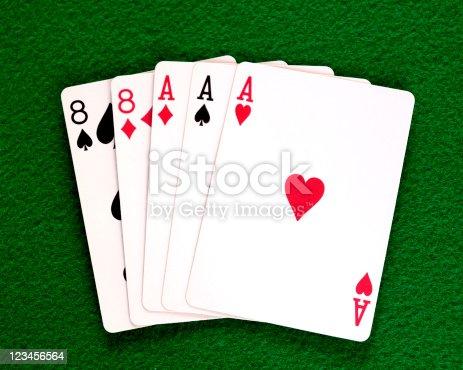 istock Poker Hand, Full House 123456564