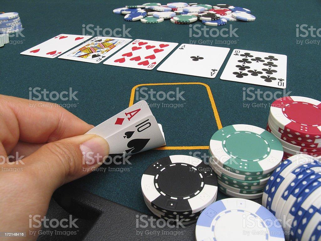Poker hand #4 - Full House royalty-free stock photo