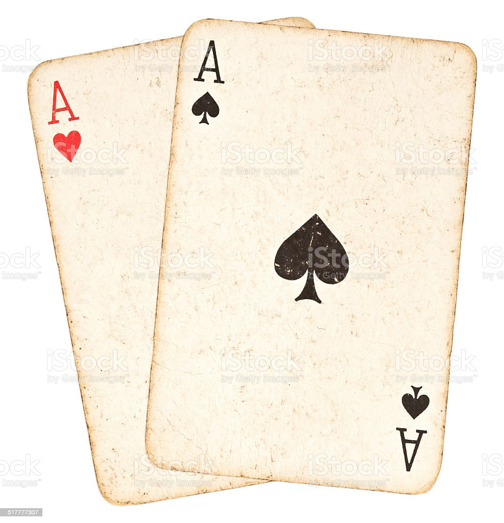 Poker Hand - Pair of Aces stock photo