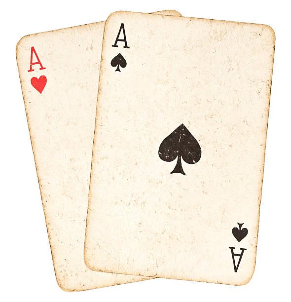 Poker main-deux Aces - Photo