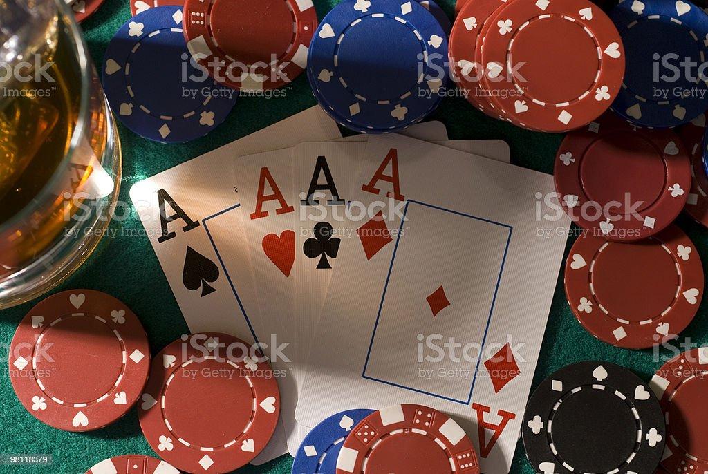 Poker hand royalty-free stock photo