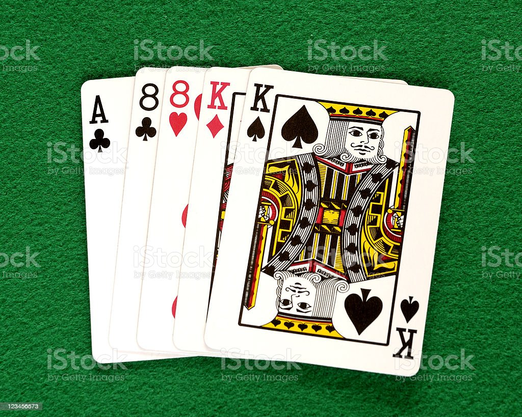Poker Hand, Two Pair royalty-free stock photo