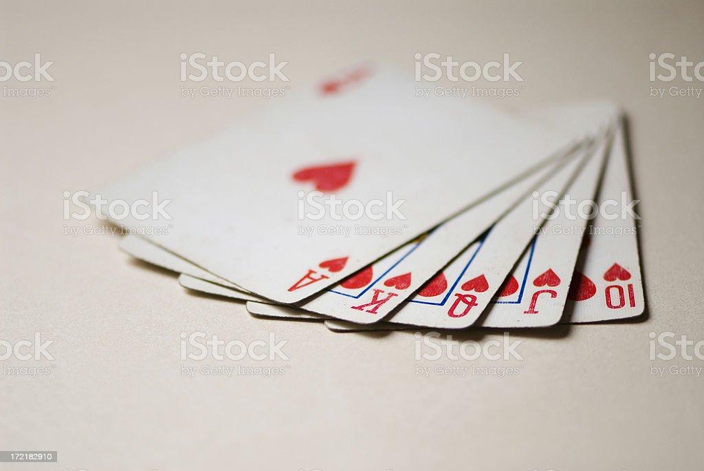 Poker Hands - Royal Flush royalty-free stock photo