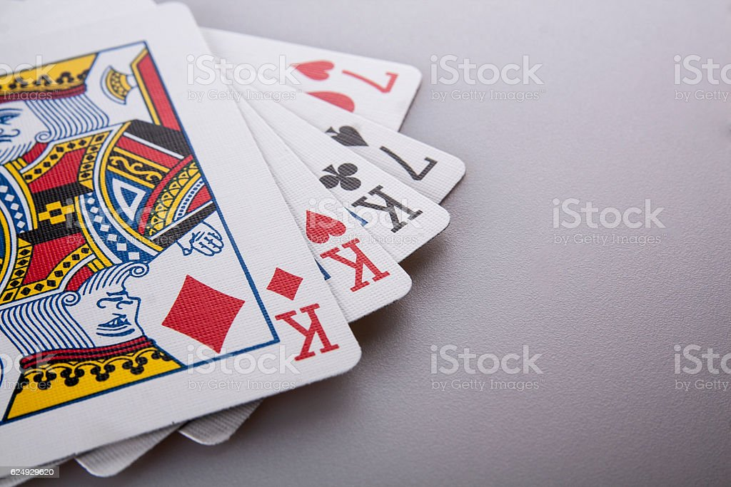Poker King full-house stock photo