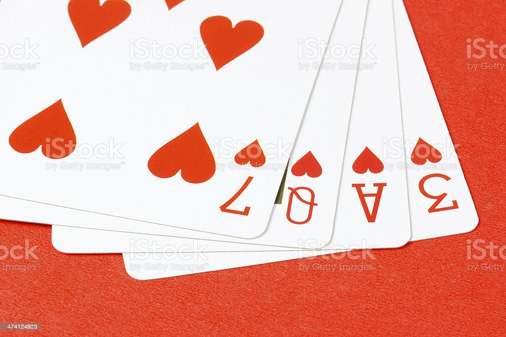 Poker Love royalty-free stock photo