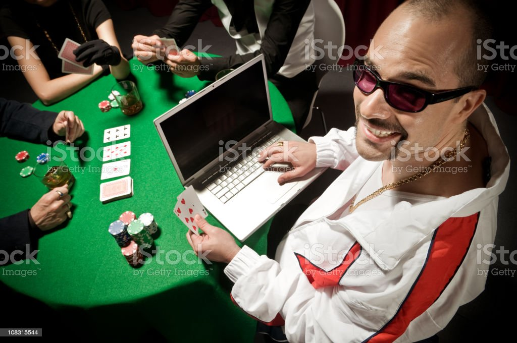 Poker Online royalty-free stock photo