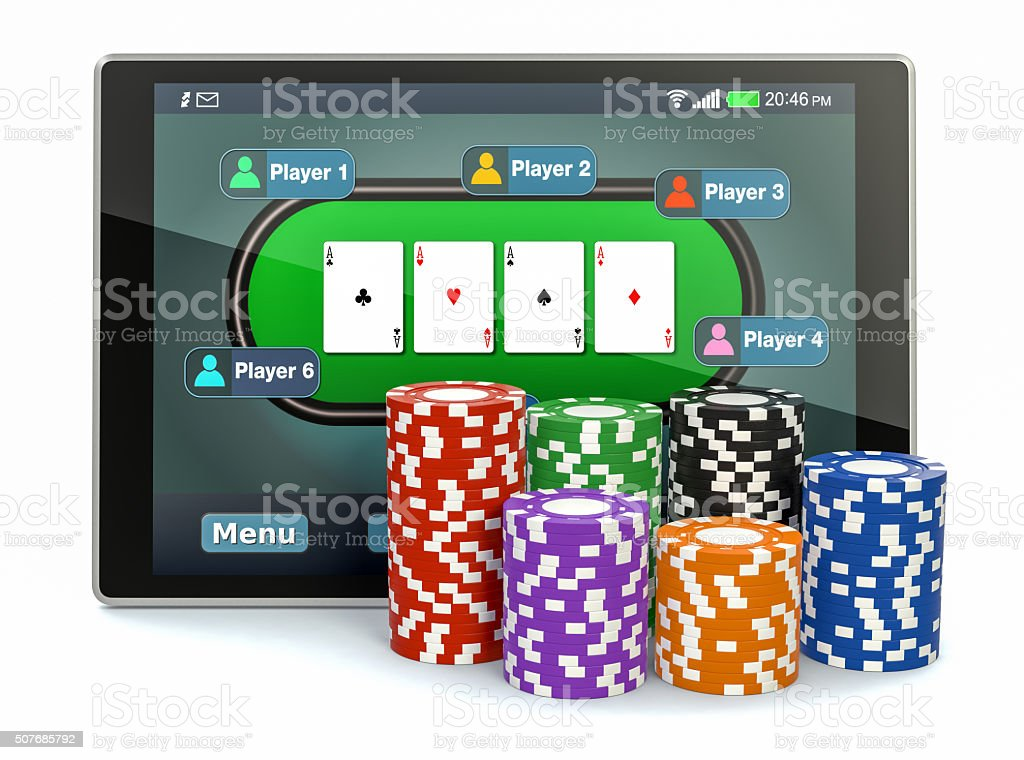 poker online stock photo