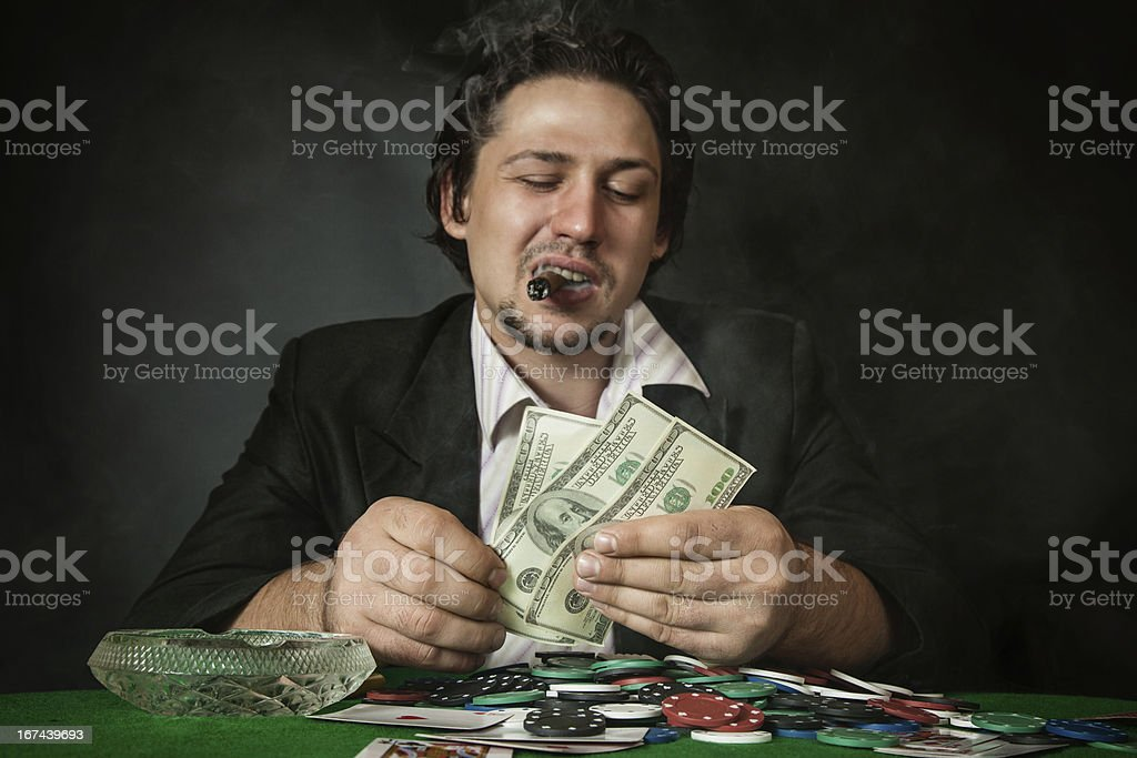 Poker player royalty-free stock photo