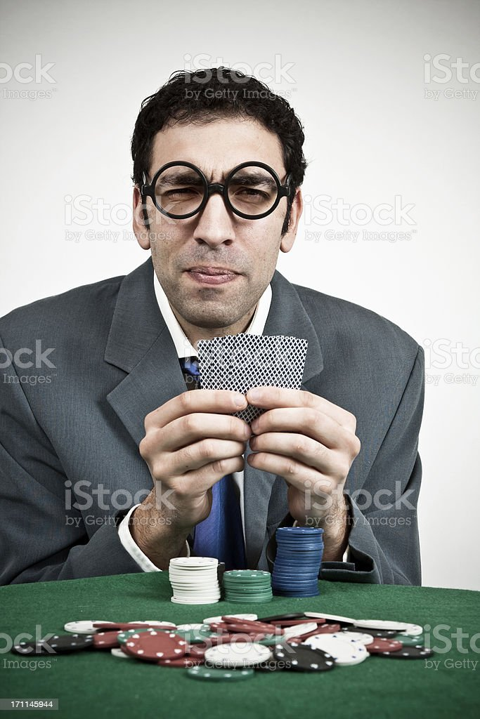 Poker player. royalty-free stock photo