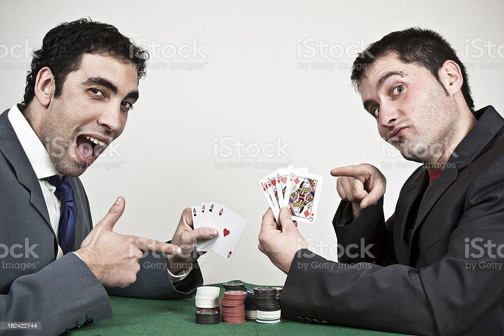 Poker players. royalty-free stock photo