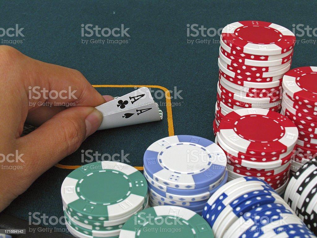 Poker - pocket aces a winning hand royalty-free stock photo