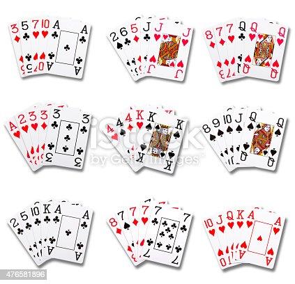 istock Poker ranking hands combinations 476581896
