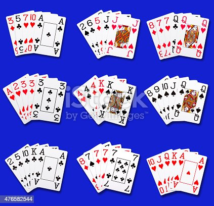 istock Poker rankings hand combinations 476582544