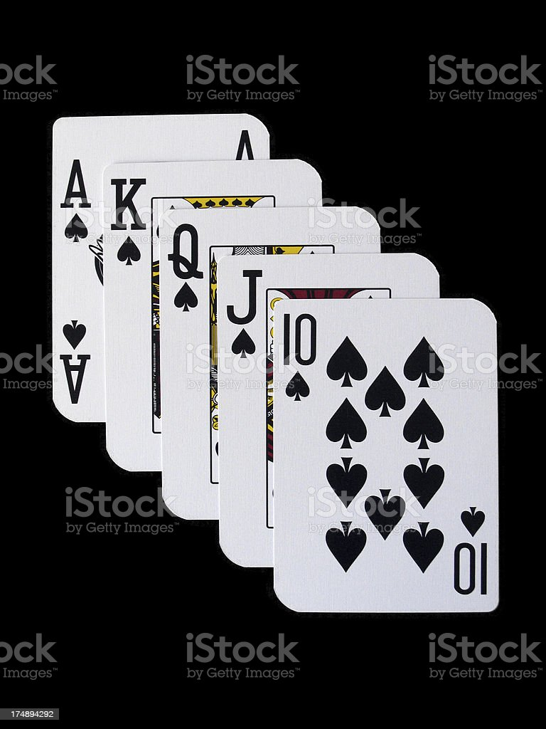Poker - royal flush spades royalty-free stock photo