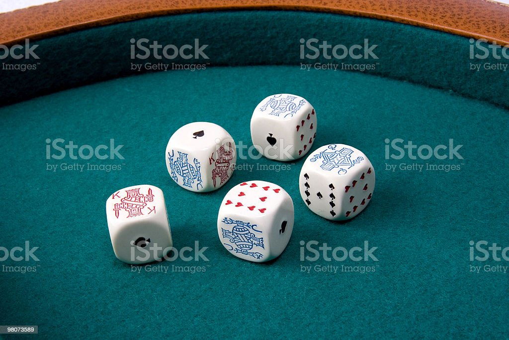 Poker Dice royalty-free stock photo