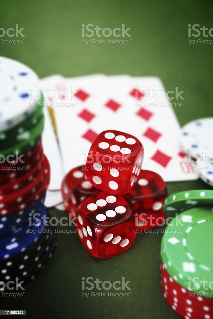 Poker Scene royalty-free stock photo
