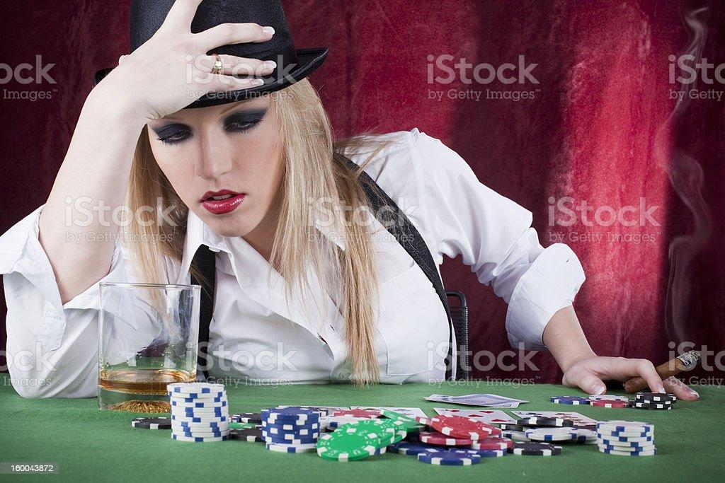 poker stress royalty-free stock photo