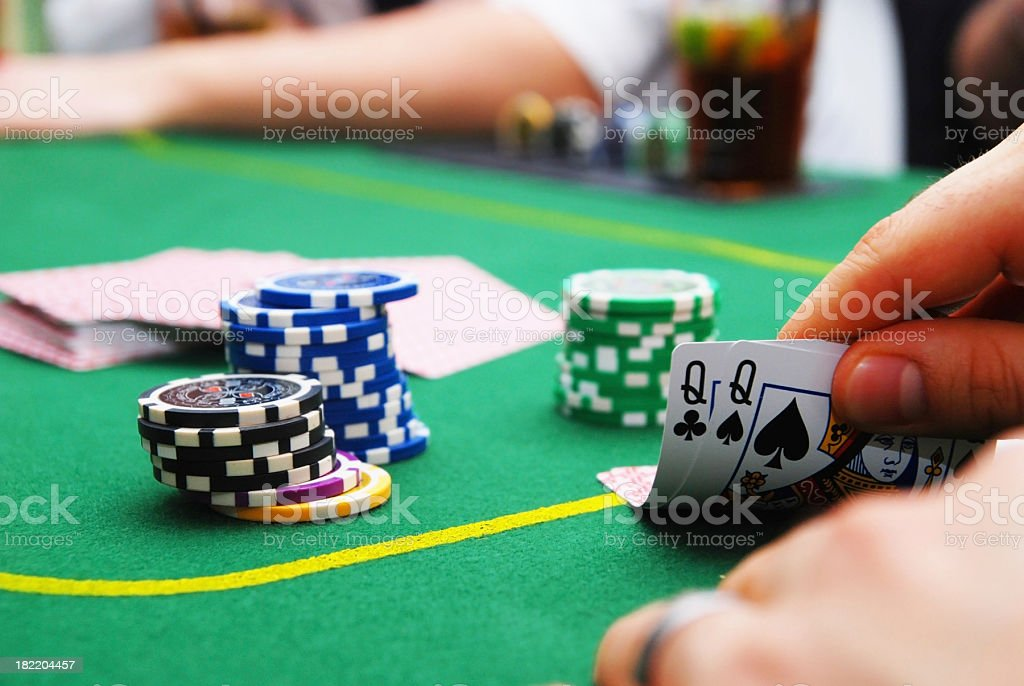 poker table in casino royalty-free stock photo
