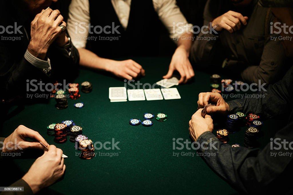 Poker table stock photo