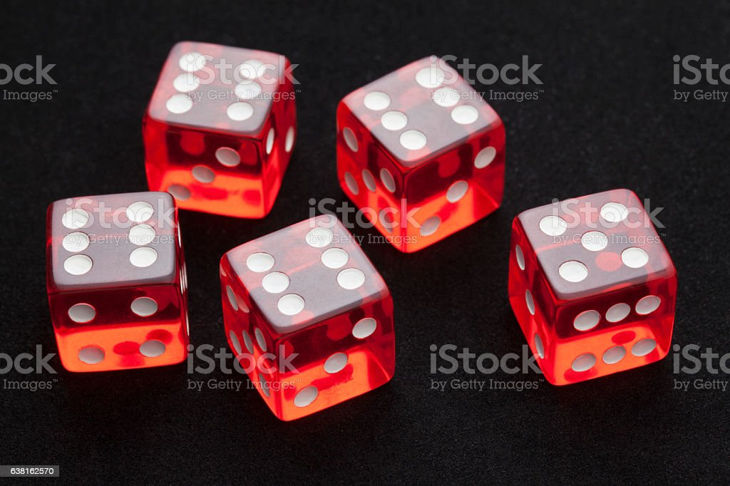 Poker's cubes stock photo