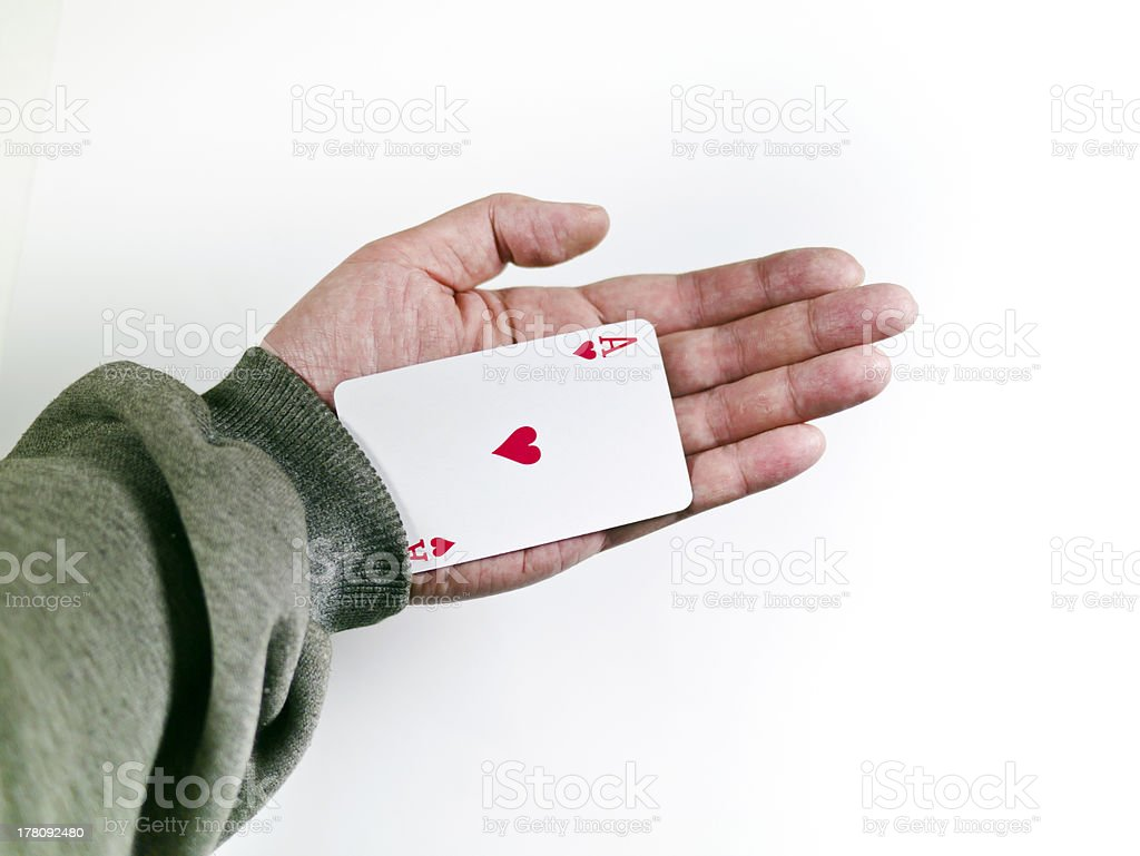 pokers of playing cards royalty-free stock photo