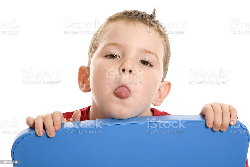 Poking Tongue Out Boy royalty-free stock photo