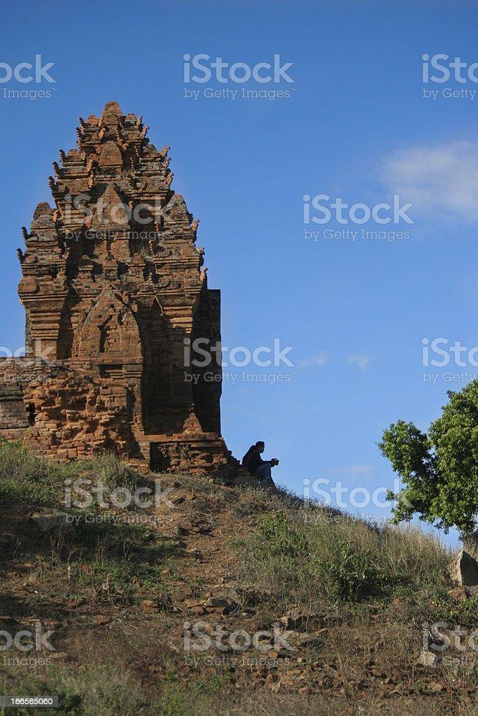 Poklongarai champa tower - Phan Rang City stock photo