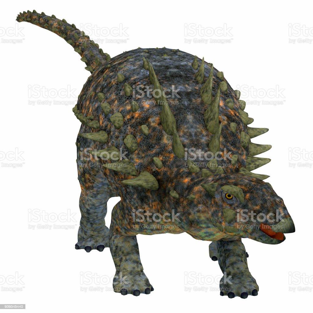Polacanto dinossauro em branco - foto de acervo