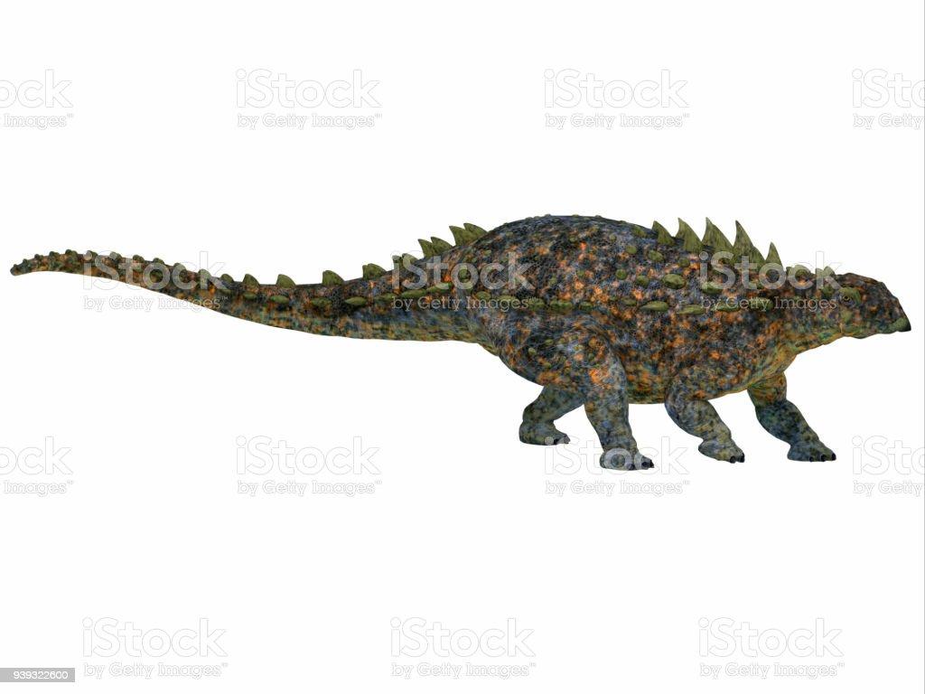 Perfil de lado Polacanto dinossauro - foto de acervo