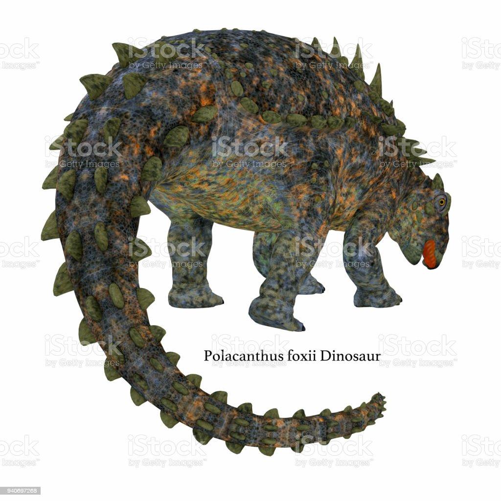 Cauda de dinossauro Polacanto - foto de acervo