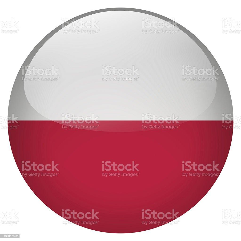 poland button stock photo