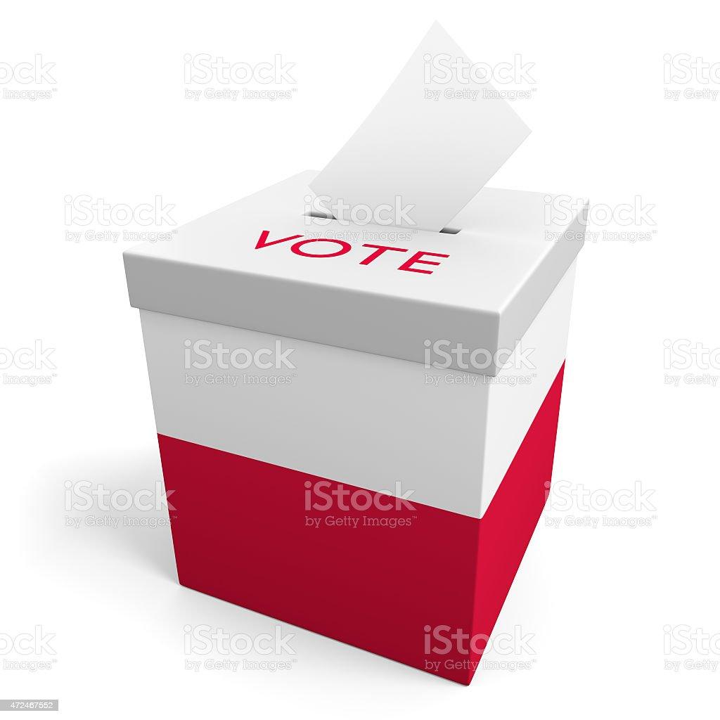 Poland election ballot box for collecting votes stock photo