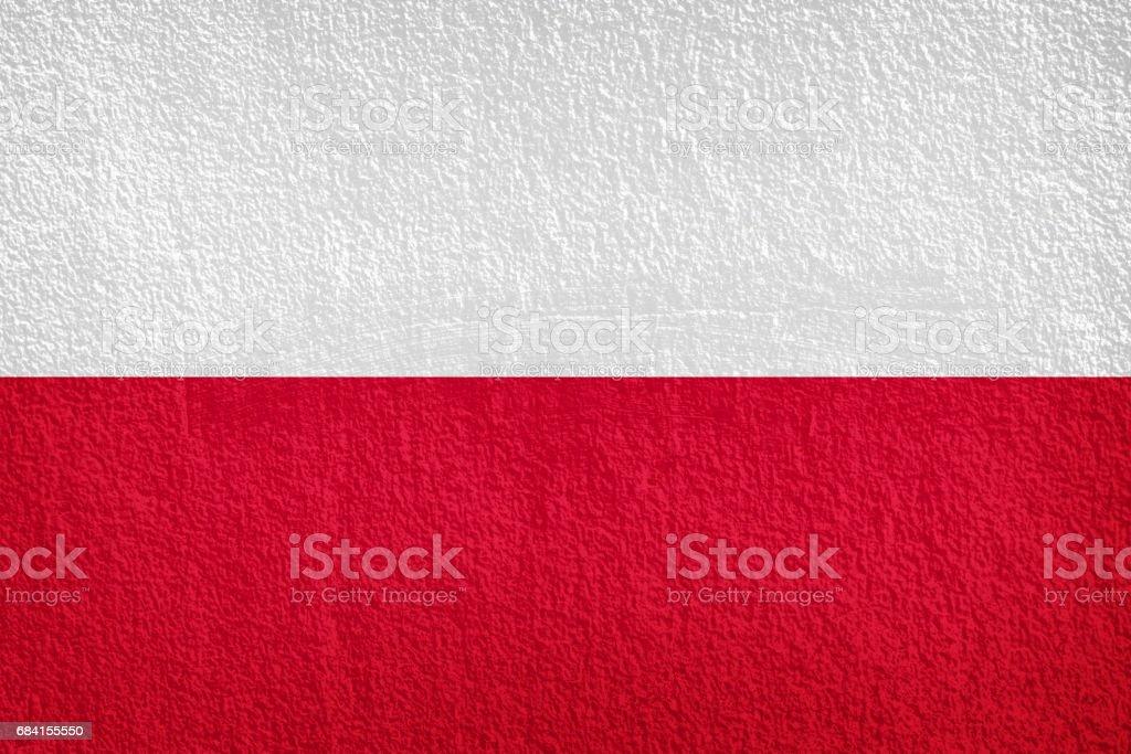 Vlag van Polen, grunge en retro vlag series royalty free stockfoto