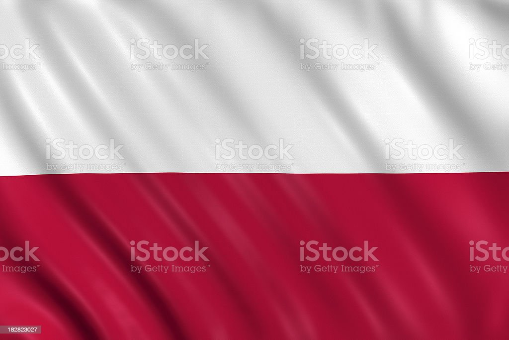 poland flag royalty-free stock photo