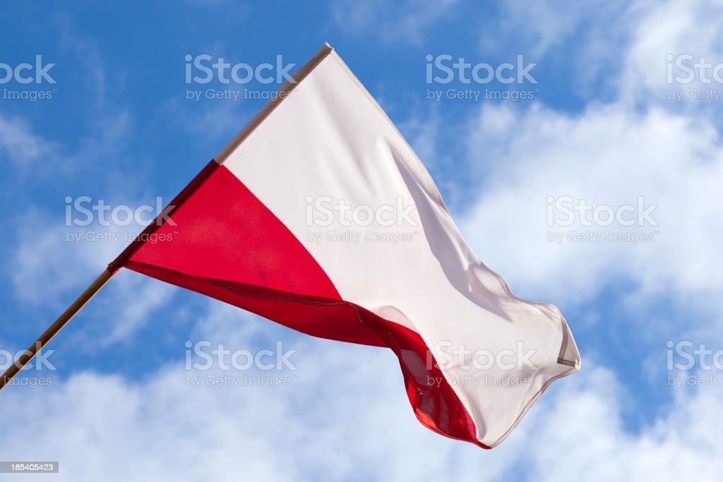 Poland flag stock photo