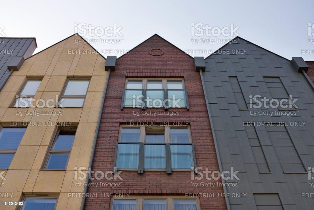 Poland, Gdansk. Modern houses. - Foto stock royalty-free di Architettura
