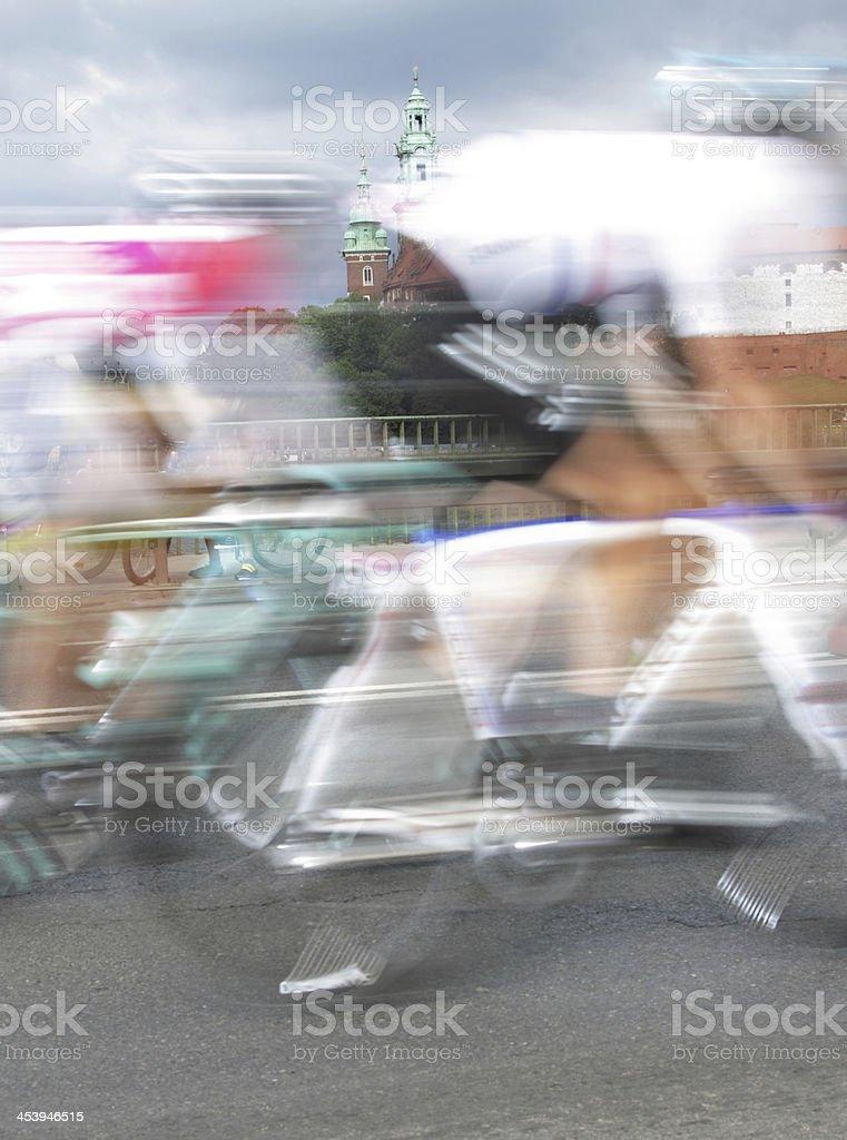 Poland, Krakow, bike race stock photo