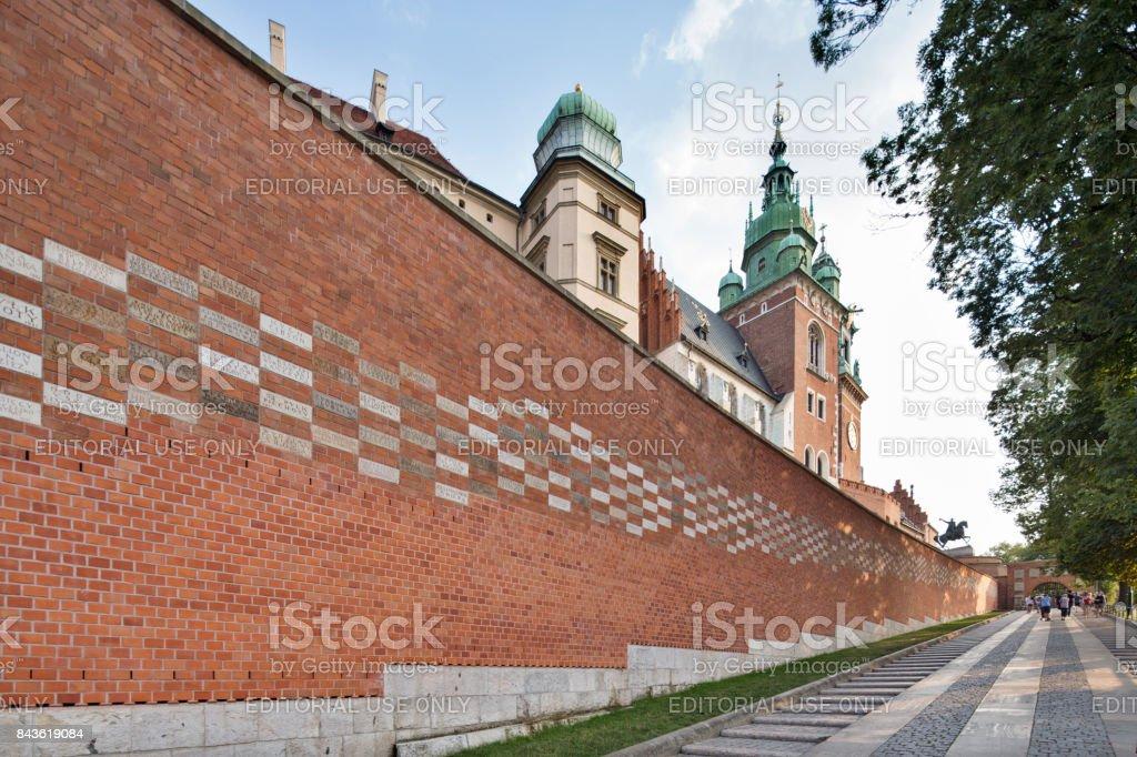 Poland, Krakow. Wawel's Arms Gate. - Foto stock royalty-free di Architettura