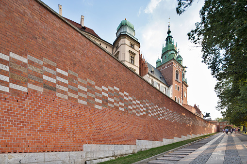 Poland Krakow Wawels Arms Gate - Fotografie stock e altre immagini di Architettura