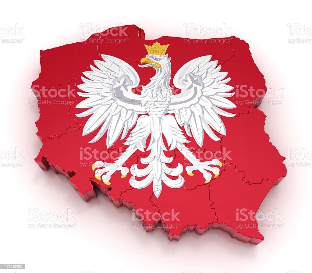 Poland map royalty-free stock photo