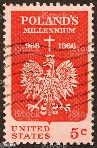 Poland millennium stamp
