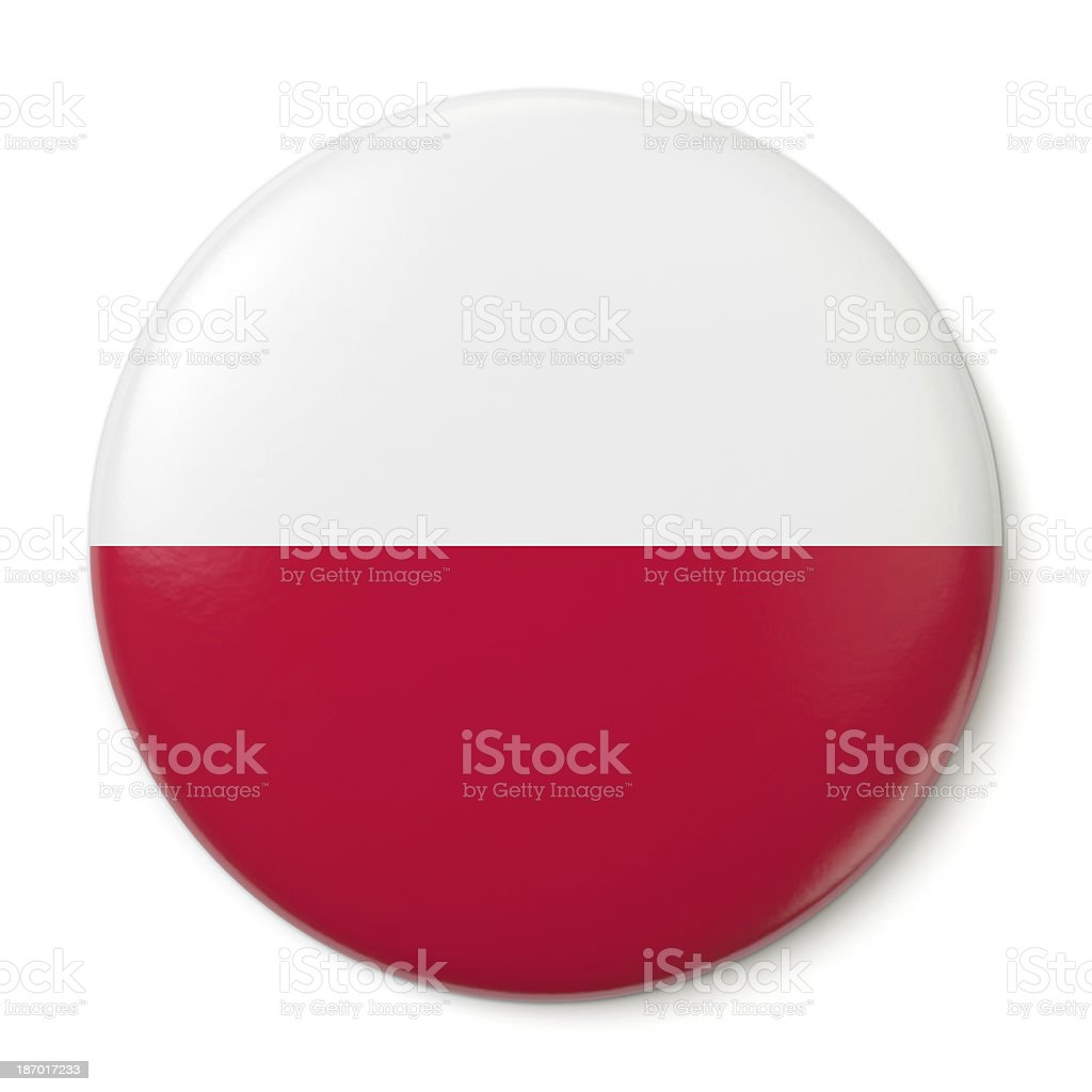 Poland Pin-back stock photo