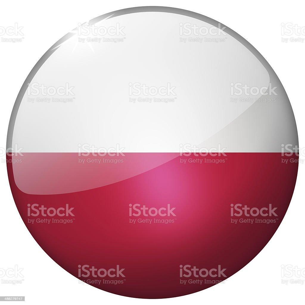 Poland Round Glass Button stock photo